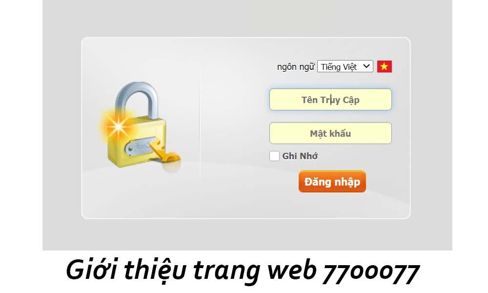 Giới thiệu trang web 7700077